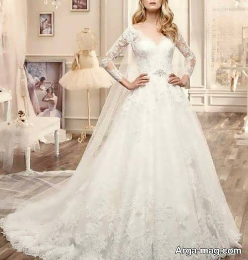 لباس عروس دانتل با طرح های دیدنی
