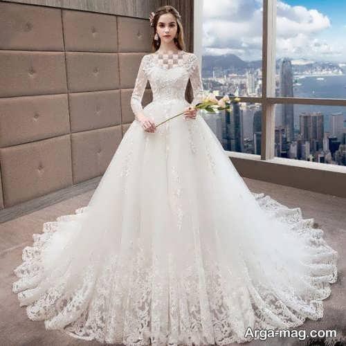 لباس عروس دانتل با طرح های دوست داشتنی