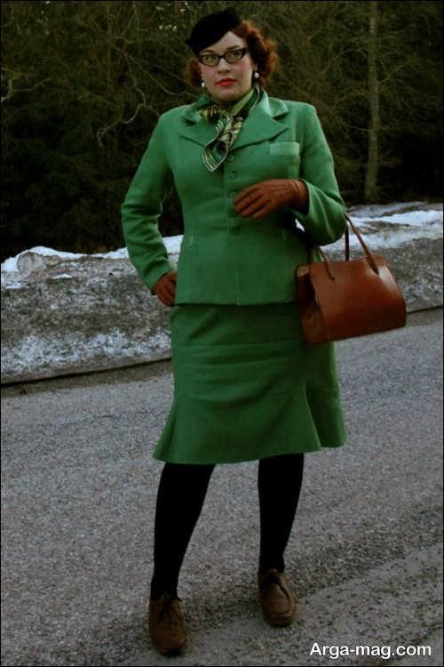 مدل کت و دامن سبز زنانه