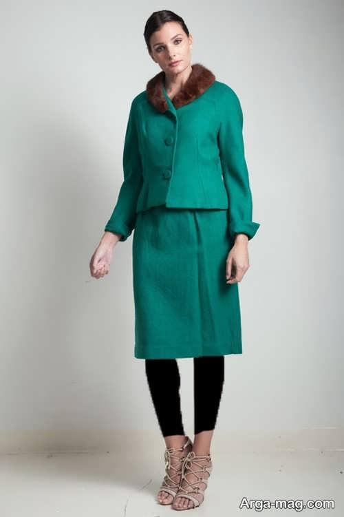 مدل کت و دامن سبز و زیبا زنانه