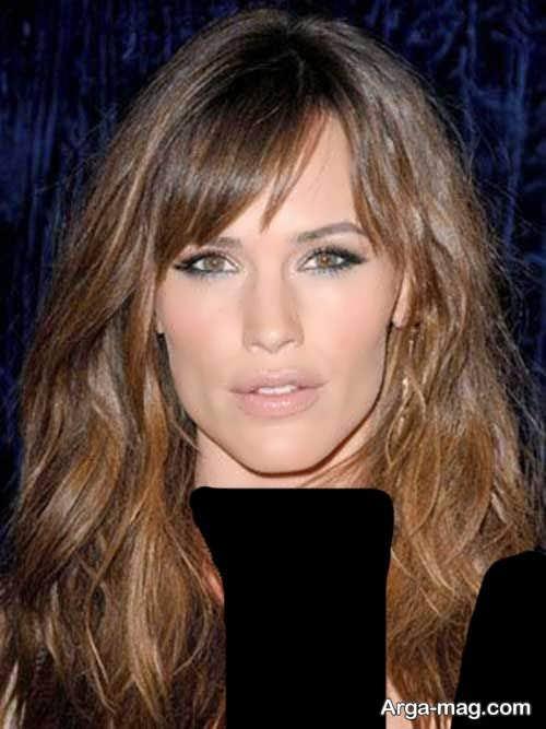 مدل موی زنانه بلند برای صورت کشیده