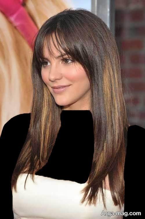 مدل موی جذاب و بلند برای صورت کشیده