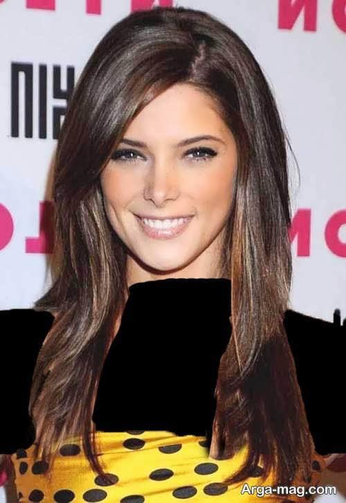 مدل موی بلند برای صورت کشیده و لاغر