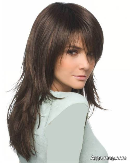 مدل مو بلند و جذاب برای صورت کشیده