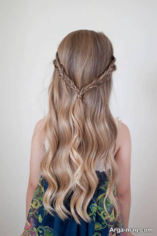 مدل موهای بلند دخترانه برای عروسی