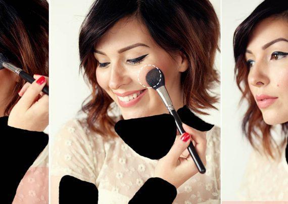 آموزش آرایش برای صورت بیضی