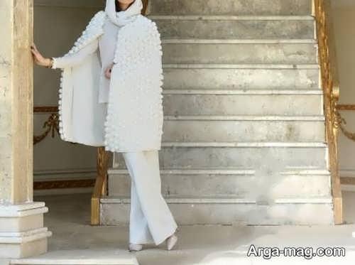 مدل مانتوی شیک و سفید