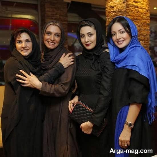 مریم معصومی در کنار دیگر بازیگران