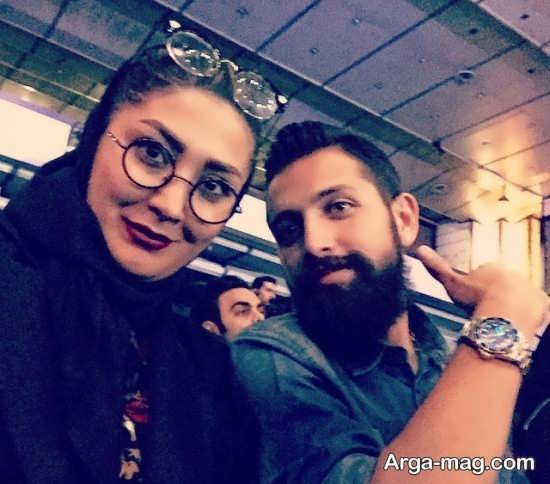 محسن افشانی در کنار مریم معصومی