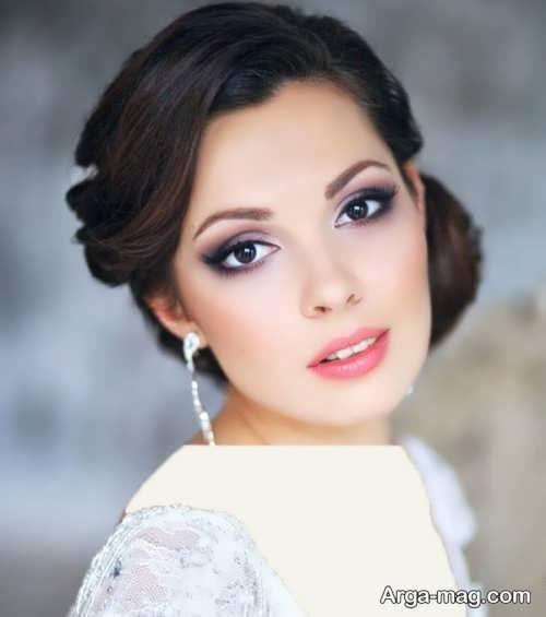 مدل آرایش ملایم صورت عروس