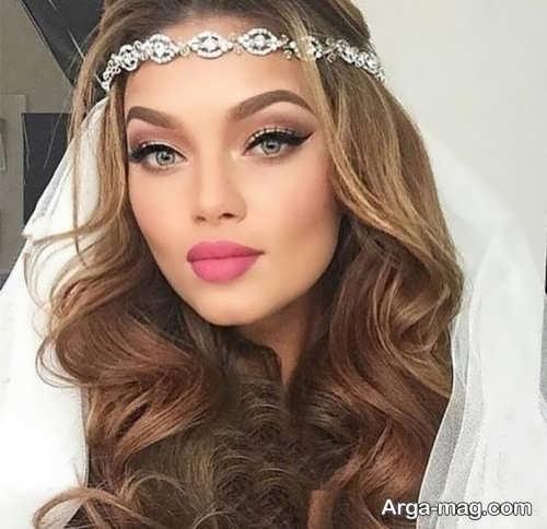 مدل آرایش زیبا و خاص عروس