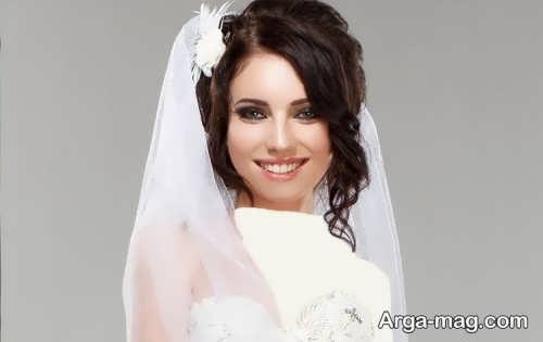 آرایش صورت شیک و حرفه ای عروس