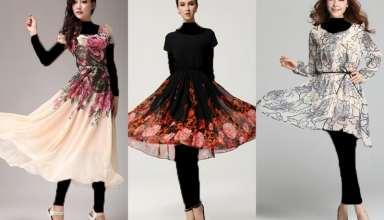 مدل لباس مجلسی با پارچه گلدار و شیک