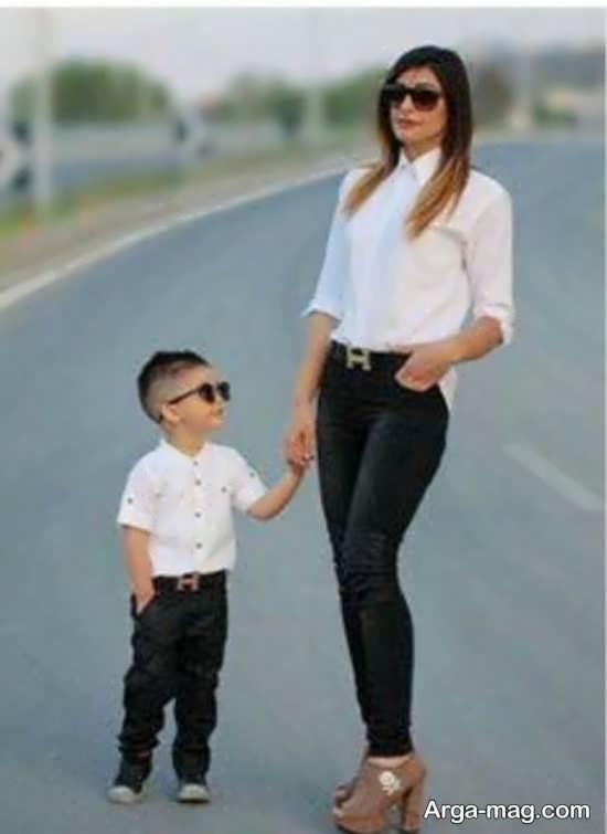 تیپ زیبای ست برای مادر و پسر
