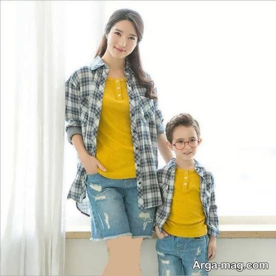 مدل های لباس ست مادر و پسر بسیار شیک و جذاب