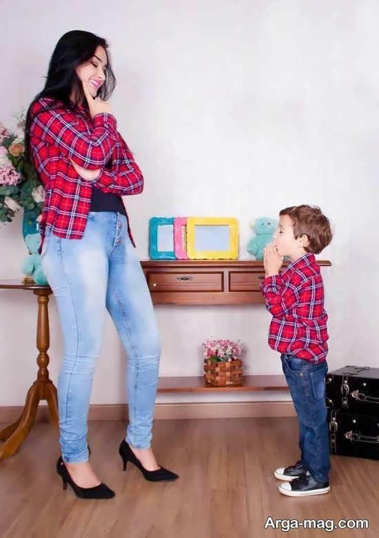 ست زیبای لباس مادر و پسر
