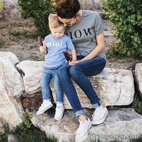 ست ساده و زیبای مادر و پسر