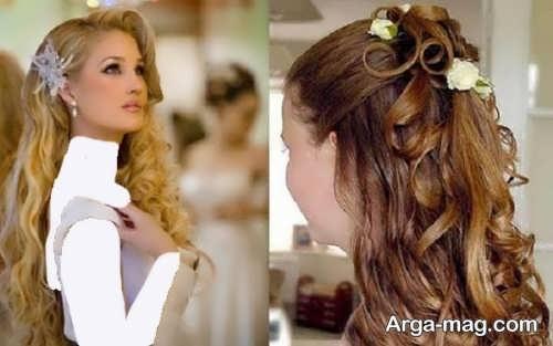 مدل موی باز برای عروس
