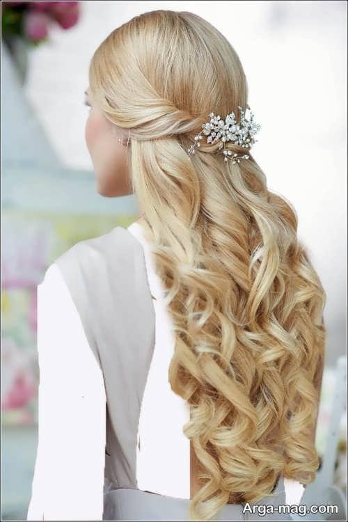 مدل مو باز و جذاب برای عروس