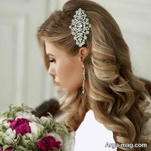 مدل مو باز و جدید برای عروس