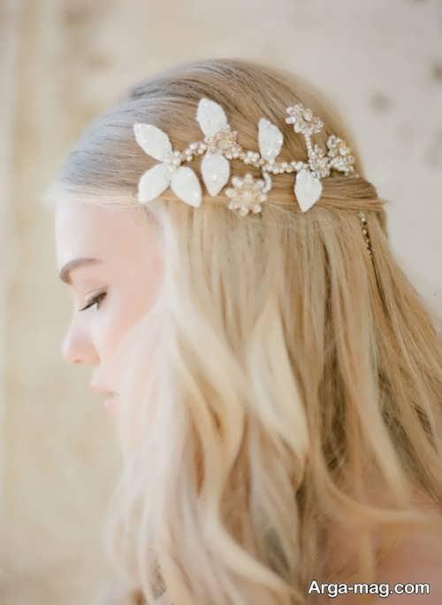 مدل موی ساده و باز عروس