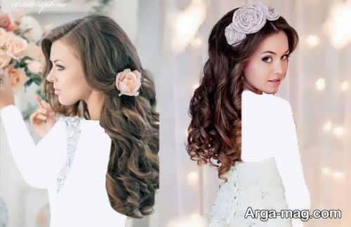مدل موی فر باز برای عروس