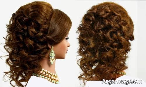 مدل موی فر باز و زیبا برای عروس