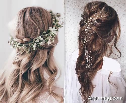 مدل مو خاص و متفاوت برای عروس