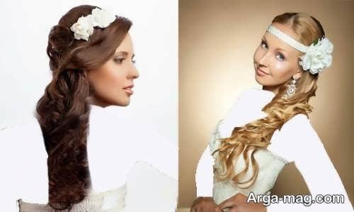 مدل موی جذاب و متفاوت برای عروس