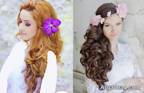 مدل موی باز و شیک برای عروس