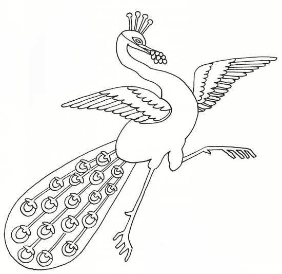 نقاشی زیبا طاووس