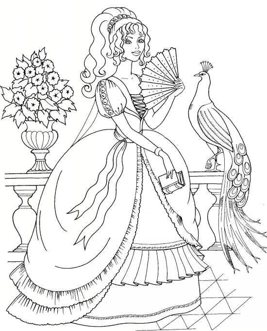 نقاشی فانتزی و خلاقانه طاووس