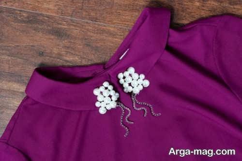 وسایل تزیینی با مروارید مدل مروارید دوزی روی لباس مجلسی بسیار شیک و جذاب - روجانیوز