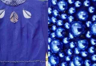 مدل مروارید دوزی روی لباس مجلسی