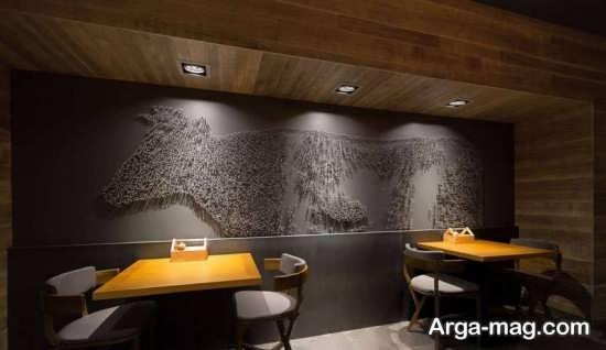 معماری داخل رستوران مدرن