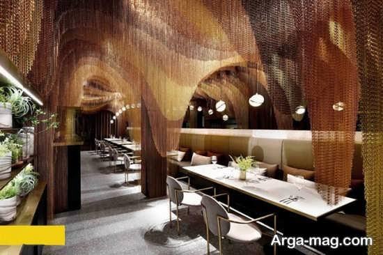 طراحی داخلی رستوران لاکچری
