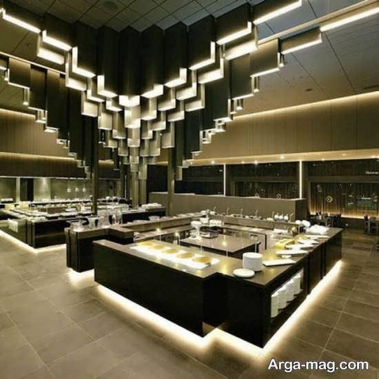طراحی داخلی رستوران باکلاس