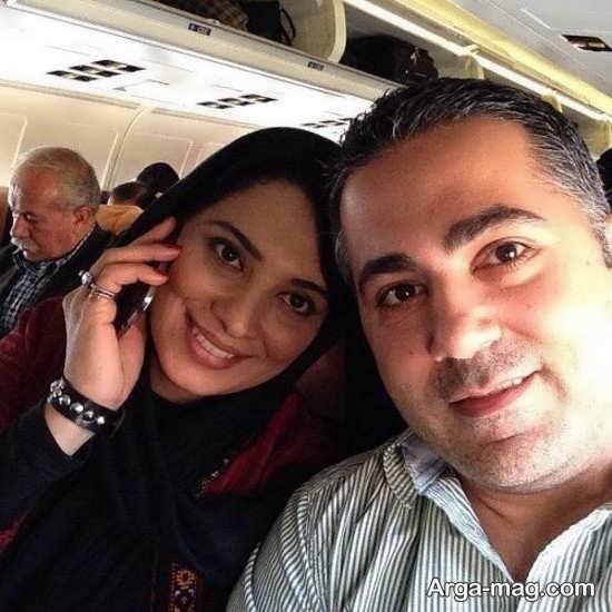 سلفی زیبای روشنک عجمیان و همسرش