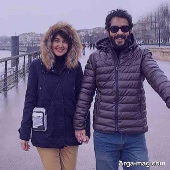 سلفی ساعد سهیلی و همسرش در فرانسه