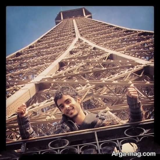 عکس زیبا ساعد سهیلی در پاریس و برج ایفل