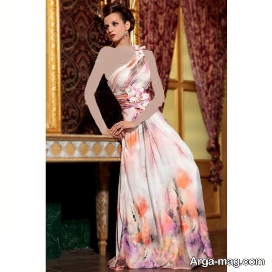 مدل لباس ساتن طرح دار و بسیار شیک و جذاب زنانه و دخترانه