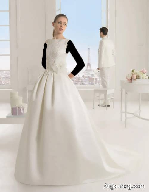 مدل لباس عروس اروپایی ساده