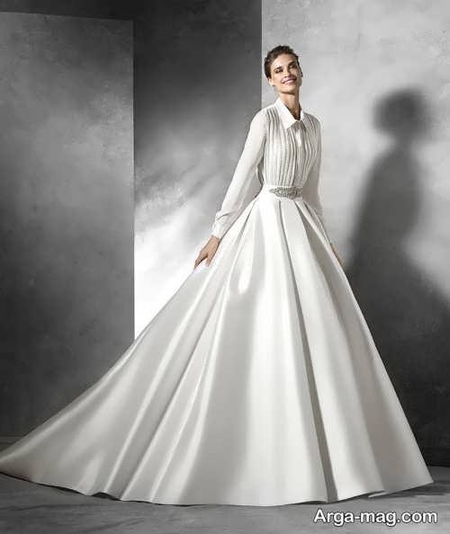 مدل لباس عروس آستین دار و بلند