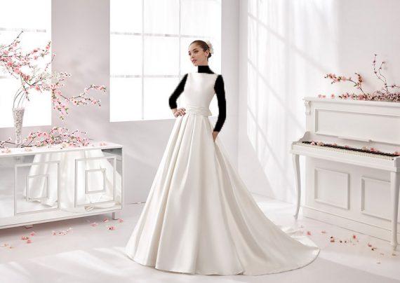 لباس عروس ساده اروپایی شیک