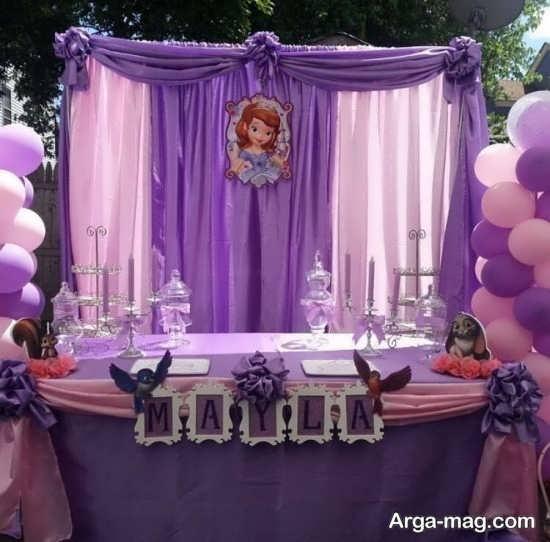 تزیینات تولد سوفیا با طراحی قشنگ