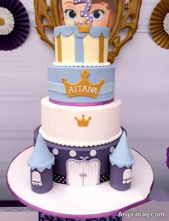تزیین کیک تولد با تم پرنسس سوفیا