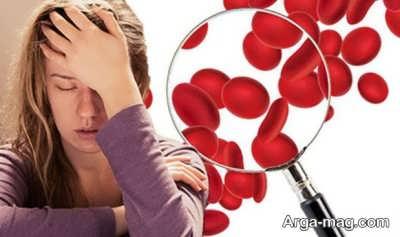 نشانه های کم خونی