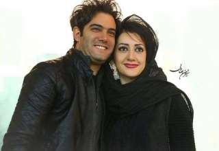 عکس امیر علی نبویان و همسرش