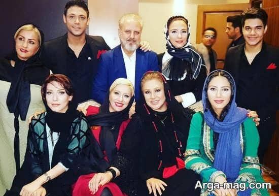 عکس دسته جمعی بازیگران زن در جشن حافظ 96
