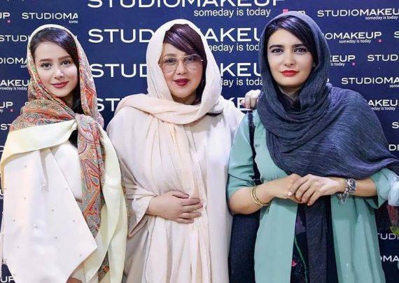 بازیگران زن در نمایشگاه زیبایی و تندرستی